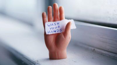 wash hands sign for kids