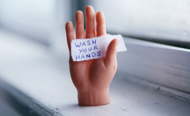 wash hands sign for kids